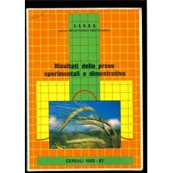 Risultati delle prove sperimentali e dimostrative - Cereali 1986-1987